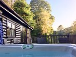 Mistletoe One Luxury Lodge with Hot Tub with its magnificent majestic backdrop