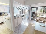 Open Family Room to KitchenWith Views to Lagoon and Golf