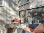 Large Outdoor Deck With Super Nice Furniture