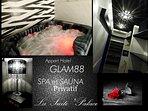 Suite de 70m2 avec Spa et Sauna Privatif 'Palace' au Glam'88 Vosges