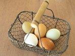 A chaque race de poule sa couleur d'œuf, les croisements nous offres des couleurs surprenantes