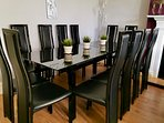 Dining table seats 12 people