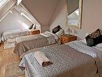Bedroom 5 - three single beds