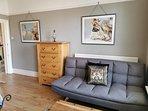Sofa bed in bedroom 1