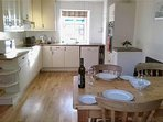 Spacious and well equipped kitchen diner