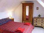 Upstairs double bedroom with Velux window