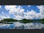 Savusavu Bay is a safe haven for beautiful sailboats.