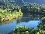 Fly fishing on the Nasekawa River.