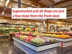 You will have all the nearby shops with prices and Italian quality (they are not tourist shops ....)