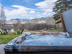 Our new Caldera hot tub, year-round relaxation awaits!