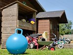 Outdoor Playhouse and Toys
