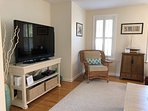 Another View of Den with Large Flat Screen TV