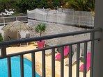 Du balcon  vu espace piscine