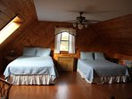 Loft with 2 queen size beds.