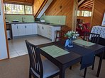 Dining and kitchen, with all you need