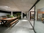 Beautiful designed long lines accentuate the easy flow of the architectural design