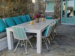 Outdoor dining table-sits 12 people
