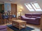 Beautiful oak flooring, oak furniture, fixtures and fittings.