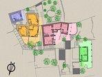 La piantina di tutte le unità abitative del complesso privato SECRET SPORADES.