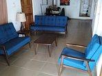 Comfortable living room furniture.
