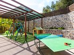 Outdoor children's playground and ping pong table!