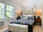 Queen size bed, pool and nature view.  All 3 bedrooms with air conditioner.