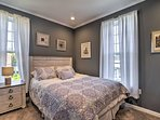 Spread out in this charming master bedroom with a queen-sized bed.