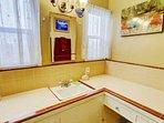 Full bath tub and shower in master bath