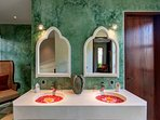 double silk bathroom