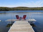 Cottage Living at it's best! Great views and a sandy lake for swimming.