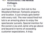 With 100% 5 star reviews, The Retreat is one of Perthshire's best rated and reviewed properties