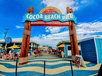Only a mile north of the Cocoa Beach Pier!
