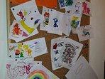 Bacheca disegni dei nostri piccoli ospiti