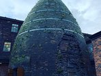 A bottle kiln, typical of the potteries.