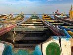 pirogues à dans le port de Djifer