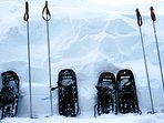 Each winter guest can enjoy two sets of snowshoes to explore Muskoka:)