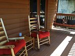 A Window to Paradise has lots of outdoor deck space for you to enjoy! Rocking chairs, swing & more