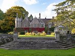 The Saddlery is in the ground of Treberfydd House - guests are welcome to explore the gardens