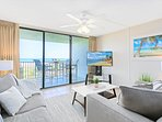 Step onto your private oceanfront balcony from the condo