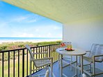 Beautiful direct oceanfront view from your private balcony