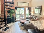 Living room with ski  Slope and golf views, HD TV, wood burning fireplace
