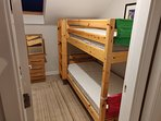 Bedroom 3: 1x bunk bed and 1 x single sofa bed
