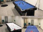 table multi jeux billard ping-pong et mini hockey