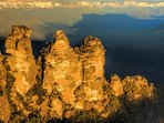 The iconic Three Sisters are only minutes away overlooking the Jamison Valley. Feel small again.