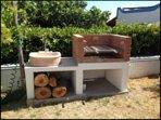 barbecue in muratura con lavandino