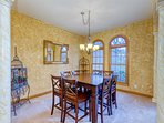 Additional dining area seats 8 with beautiful views and natural light