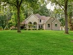Huge front lawn allows for play or leisure. Great photo opportunities!