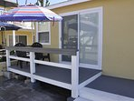 kitchen/living slider opens to ocean view deck.