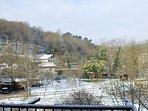 Vistas desde terraza con nieve