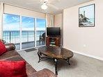 Living Room -  Gulf Dunes 408 Fort Walton Beach Okaloosa Island Vacation Rentals